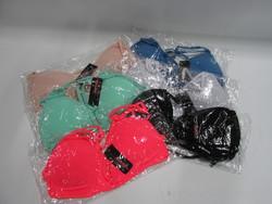 Women Deep V Bra Removal Padded Cageback Dual Straps - Multi - One Size