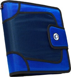 Case-it Open Tab Velcro Closure 2-Inch Binder - Blue