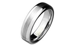 Tungsten & Titanium Unisex Comfort Fit Ring Band - Smooth - Size: 13