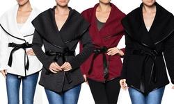 Women's Quilted Wrap Jacket: Wine/medium