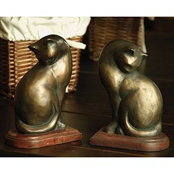 "SPI - Pair of Cat Bookends - 3.5x5.5x8"" (50300)"