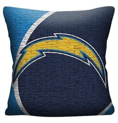 "NFL San Diego Chargers Woven Pillow - Multi-Colored (20""x20"")"