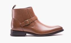 Kenneth Cole Men's Ankle Dress Boots - Cognac - Size: 9