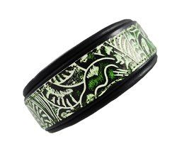 "SexyBeastDogCollars Tooled Saddle Leather Dog Collar 1.5"" - Size: 3XL"