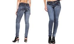 VIP Jean Women's Stretchy Skinny Jeans - Grey - Size: 5/6
