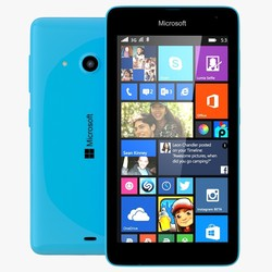 Unlocked Microsoft Lumia 535 8GB Window Smartphone - Cyan Blue (RM-1092)