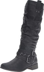 Xoxo Knee High Maeko Boots: Black/8.5