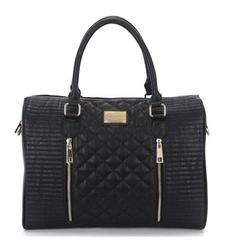 "Sandy Lisa Siena Quilted Tote for 14"" Laptop & Tablet - Black - Size: One"