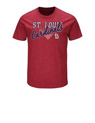 MLB St. Louis Cardinals Men's Master This Tee, Red Pepper Heather, Medium