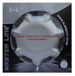 "Albrecht 49474 Run IV 14"" Wheel Cover Set of 4 - Gloss Silver/Black"