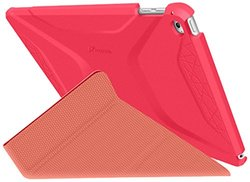Roocase RC-APL-AIR2-OG-SS-PR-RP Apple iPad Air 2 Origami 3D Case, Persian Rose & Ruddy Pink