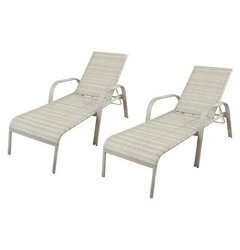 Threshold Southcrest 2 Pack Stack Wicker Chaise Lounge - Gray