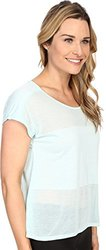 ASICS Women's Burnout Short Sleeve Top - Crystal Blue - Size: Medium