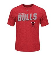 NBA Chicago Bulls Men's Big Timers Tee, Large, Authentic Heather Red