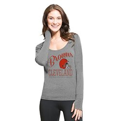 NFL Cleveland Browns Women's '47 Forward Dash Long Sleeve Tee, Shift Grey, X-Large