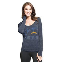 NFL San Diego Chargers Women's '47 Forward Dash Long Sleeve Tee, Shift Navy, Small