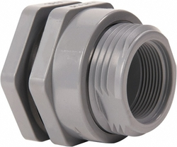 Hayward CPVC Bulkhead Fitting - Lighr Grey - Size: 2-7/8""