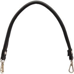 Knitter's Pride Genuine Leather Bag Handles with Hooks - Black
