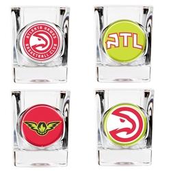 Great American NBA Atlanta Hawks Shot Glasses - Set of 4