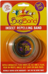 Bug Band 6-Pack Deet Free Insect Repelling Wristband - Green