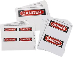"""Brady 12917 Write-On / Laser Printable Polyester Sign & Label Blanks Variety Pack, 7"""" X 10"""", 5"""" X 7"""", 3 1/2"""" X 5"""" (Pack of 25)"""