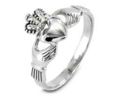 West Coast Stainless Steel Irish Claddagh Ring