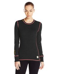 Meister Women's Kiss Me Sweaters, Black/Persimmon, Large