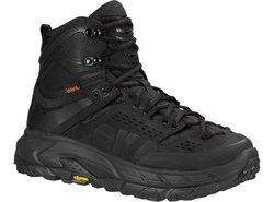 Hoka One One Men's Tor Ultra Hi WP Hiking Boot Sneaker Shoe, Black, 9