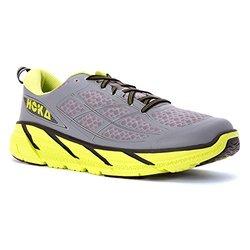 Hoka One One Men's Clifton 2 Running Shoes Grey/Acid 10.0 D(M) US