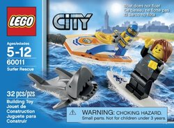 LEGO City Surfer Rescue Collection Set (60011)