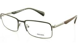 Prada Unisex Optical Designer Frames - Gunmetal Grey