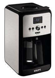 KRUPS EC3140 Savoy Programmable Digital Coffee Maker Machine - Silver