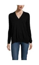 Isy & KI Cashmere Long Sleeve Tunic V-Neck - Black - Size: XS