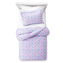 Circo 3 Pcs Butterfly Flannel Duvet Cover Set - Purple - Size: Full/Queen