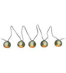 Threshold Modern Globe String Light - Brass