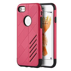 Dream Wireless Movement Hybrid Rugged Case for for iPhone 7 - Retail Packaing - Hot Pink