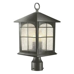HDC Y37031A-151 Brimfield 3-Light Aged Iron Outdoor Post Light