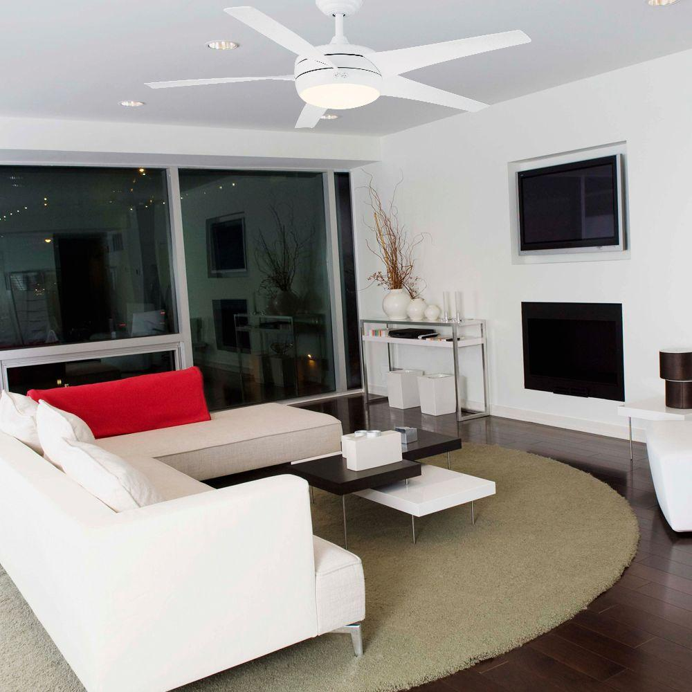 Hampton Bay 55296 Windward Ii 54 In White Ceiling Fan