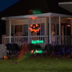 LightShow 71168 11.81 in. Whirl-a-Motion-Happy Halloween Light Stake Set