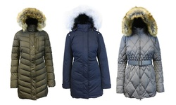 Spire Women's Heavyweight Puffer Quilted Bubble Jacket - Olive - Size: 2XL