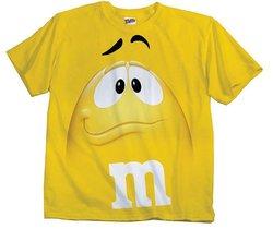M&m Jumbo Fade Adult T-shirt: Yellow Xs