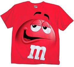 M&m Jumbo Fade Adult T-shirt: Red/xs