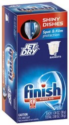Finish Automatic Dishwasher Detergent - Tablet - 20/Box - White