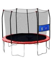 Skywalker Trampolines 12' Round Jump-N-Toss Trampoline w/ Enclosure - Red