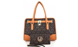 WK Collection Tote Handbag and Purse  - Brown/Camel