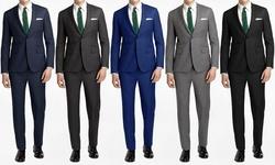 Joel Orris Men's Slim-fit 2pc Suits: Cool Blue/44sx38w