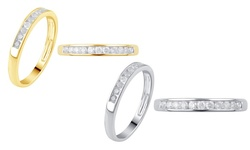 1/4 Cttw Round Diamond Channel Band: 10k Yellow Gold / 8