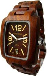 Tense Wood Mens Jumbo Rectangle Watch - Sandalwood (J8102SQR-G)