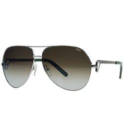 Chloe Sunglasses: Light Gold Green