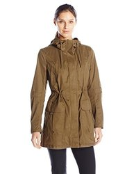 Kensie Anoraks And Trenches: Cotton Anorak-olive/xl